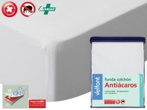 Funda Colchón Impermeable Antiácaros de Velfont