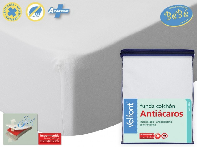 Funda Colchón Cuna Antiácaros Impermeable