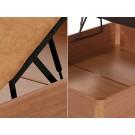 Detalle sistema apertura e interior del Canape Abatible Flex 25 3D Polipiel