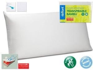 Funda de Almohada Bambu Impermeable y Transpirable de Velfont